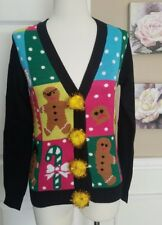 Tipsy Elves Ugly Christmas CARDIGAN Sweater PATCHWORK Womens Size XS NWT