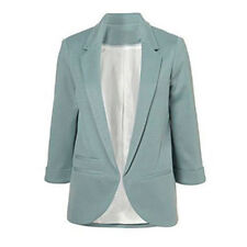 Casual Slim Solid Suit Blazer Coat Jacket Outwear Women Candy Color No Buckle Ship From China Blue M