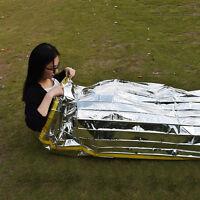 Emergency Survival Outdoor Kit Rescue Thermal Space Sleeping Bag Blanket_RI