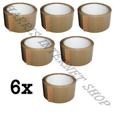 6 ROLLS OF BROWN BUFF PARCEL PACKING TAPE OF 48mm x 66M STRONG PACKING ADHESIVE