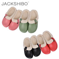 Womens Winter Cozy Slippers Indoor Boots Fur Lined Warm Home Shoes Soft Slip on