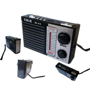 Mini Radio Portatile Radiolina Ricaricabile Fm Mp3 Usb Microsd Mk-918 cir