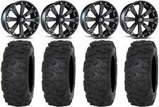 "MSA Black Kore 14"" UTV Wheels 30"" Roctane XR Tires Honda Pioneer 1000 / Talon"