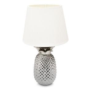 Tischlampe Ananas 40cm Deko Keramik Lampe Beistelltisch Nachttisch Dekolampe