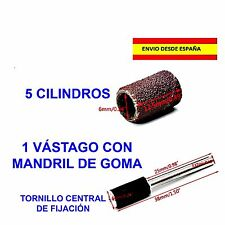 DREMEL LIJA MANDRIL VÁSTAGO + 5 CONOS DE LIJA DE 1/4 o 6.3mm BRICOLAGE MINIATURA