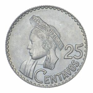 1963 Guatemala 25 Centavos *472