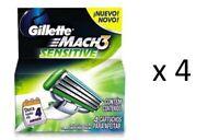 Gillette Mach3 Sensitive Refill Blades, 4 ct (4 Pack)