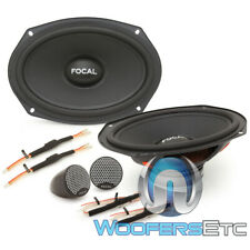 "FOCAL ISU690 6""X9"" 80W RMS CAR COMPONENT SPEAKERS TWEETERS INLINE CROSSOVERS NEW"