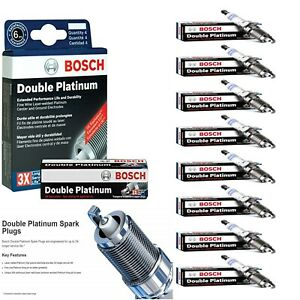 8 Bosch Double Platinum Spark Plugs For 2017 MERCEDES-BENZ MAYBACH S550 V8-4.6L