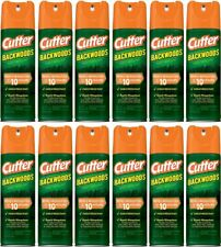 Lot of 12 Cutter Backwoods Insect Bug Fly Mosquito Repellent, Aerosol, 6oz Pack