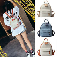 New Women's Small Mini Rayon Backpack Rucksack Daypack Travel Bag Purse 2 sizes