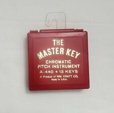 Vintage Chromatic Pitch Instrument The Master Key A-440 13 Keys Made by Kratt