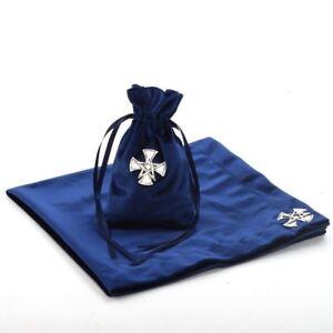 "Altar Divination Cards Wicca Cloth Tarot Table Cloth Bag Cross 24.4*24.4"" w/Bag"