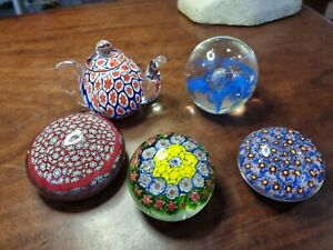 Bulk Group Lot Glass Paperweights X5 used