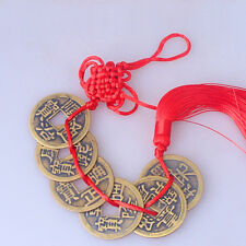 Feng Shui Chinese Coins Coin for good Luck Hanging Bag Car Decor Charm Tassel