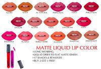 LA COLORS LIP MATTE LIQUID LIPSTICK COUTURE WATERPROOF CHOOSE 18 COLORS COSMETIC