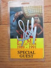 Steven Tyler signed laminate coa + proof! Aerosmith autographed backstage pass