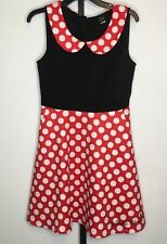 Disney Minnie Mouse Halloween Costume Dress Womens M Red Black Dress Up Party