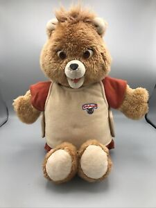 Teddy Ruxpin 1985 Talking Animated Bear In Original Suit Vintage Tape works Test