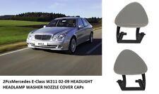 Mercedes-Benz E-Class W211 Headlight Nozzle Washer Cap Covers 2002-2009