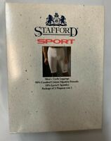Vintage Men's STAFFORD Sport Cycling Legging Shorts White XL