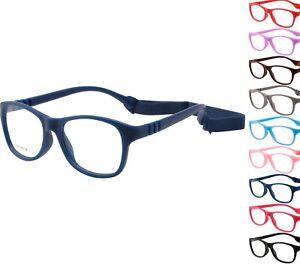 Kids Glasses Frame UNBREAKABLE Strap Bendable Boys Girls Eyeglasses 48-16-125