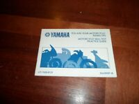 Vintage 1989 Yamaha Motorcycle Skill Test Practice Guide Riding Tips Booklet