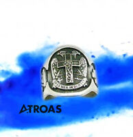 Masonic Sterling silver ring, Handmade, AASR, AMORC, Rose Croix, 18°, All sizes