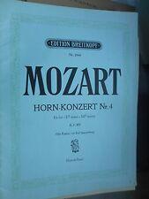 Mozart: Horn-Konzert Nr. 4 Es-Dur KV 495 Horn & Edition Piano Breitkopf