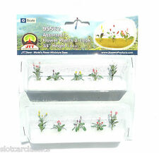 "JTT SCENERY 95562 ASSORTED FLOWER PLANTS 3  O SCALE  3/4"" HIGH   10/PK"