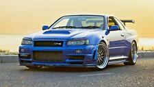 "Nissan Skyline R34 GTR   PICTURE CANVAS WALL ART 20""X30"""