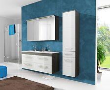 """Badmöbel Set """"COSMO 120 cm Weiss"""" Badezimmer mit Waschbecken Badezimmermöbel LED"""