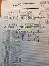 Ersatz f. Fahrradnabe SHIMANO Nexus Inter-8 SG-8C31/ Return Spring A: Y-34R21000