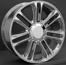 "22""x9"" Wheels & Tires Cadillac Escalade Platinum Style Chrome Rims ESV EXT 24"