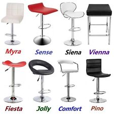 2 X New PU PVC Leather Bar Stool Kitchen Chair Gas Lift Black White Red
