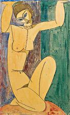 Cariatide by Amedeo Modigliani A1 High Quality Canvas Art Print