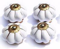 Ceramic Knobs Glass Pulls Handles for door drawer Cabinets Cupboard Wardrobe x4