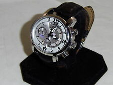 Men's Philip Watch Swiss Made Stainless Steel Automatic Water Resistant Leather