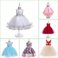 Princess Kid Party Dresses Baby Bridesmaid Flower Tutu Wedding Girl Formal Dress