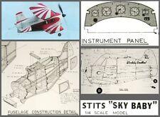 Ken Willard RC Plans 1/4 scale STITS SKY BABY