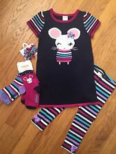 Gymboree Baby Girl 2T Mouse Theme Outfit- Lot Of 5 Pieces NWT