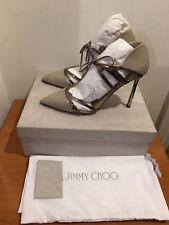 JIMMY CHOO Hime Cutout Elaphe Heels in Gold Pumps Shoes UK 4.5,5,5.5,6,6.5,7£595