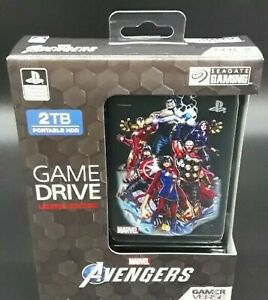 Playstation 4 External Game Drive 2TB Limited Marvel Avengers Gamer Verse NEW!