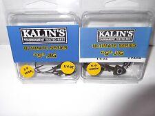 "2 pks of Kalin's Ultimate series "" S "" jigs 1/4 oz 1-5/0 pk and 1- 3/0 pk"