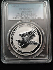 2015 1oz .999 Fine Silver Australian Wedge Tailed Eagle Coin PCGS MS70
