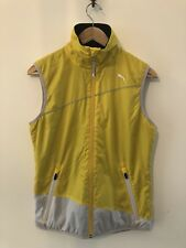 PUMA WOMENS YELLOW & BLACK REVERSIBLE SPORTS GILET UK 10