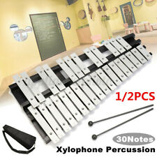 More details for 30 note glockenspiel xylophone orchestral mallet percussion metal keys +case uk