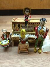 Vintage Unique Art Lil Abner & His Dogpatch Band Tin Litho Wind Up Toy