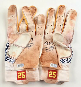 *SUPER RARE* Dexter Fowler Cardinals Cubs Signed GAME USED Gloves Autograph —MLB