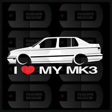 I Heart My MK3 Sticker Love VW Volkswagen Slammed Euro Germany Jetta Vento